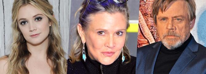 Un an après la mort de Carrie Fisher, sa fille Billie Lourd et Mark Hamill lui rendent hommage