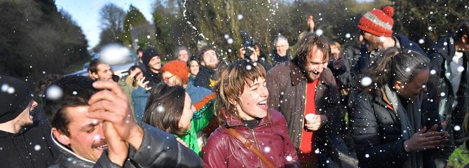 «Et toc»: sur la ZAD, les opposants laissent éclater leur joie
