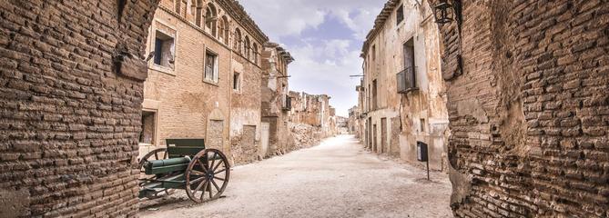 Belchite, vestige de la guerre civile espagnole