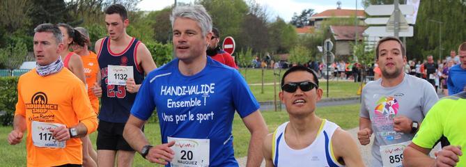 Le traileur Laurent Wauquiez travaille son endurance