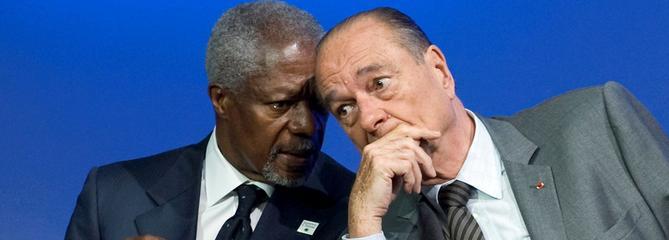 Hommages en France à la mort de Kofi Annan, un «ami de Chirac»