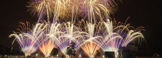 Pleins feux d'artifices sur Compiègne