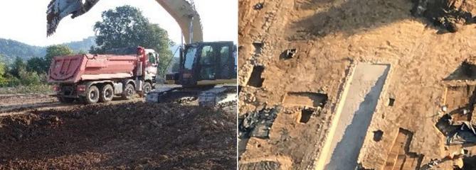 En Dordogne, l'indignation après la destruction d'un bassin gallo-romain