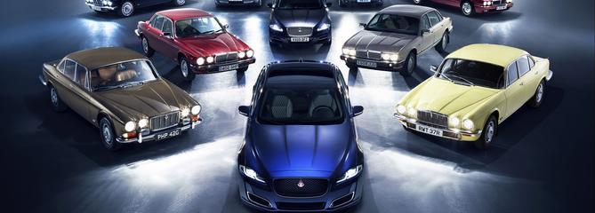 Un convoi pour les 50 ans de la Jaguar XJ