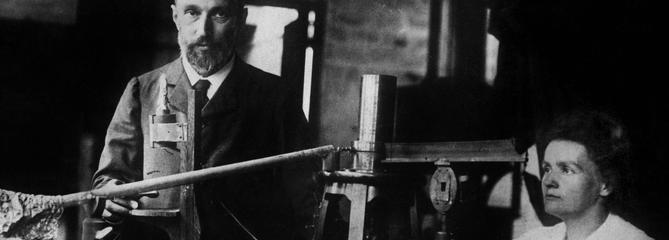 Marie et Pierre Curie, lauréats du Prix Nobel de physique le 10 décembre 1903