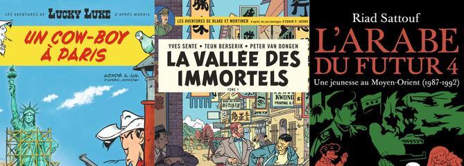 Les meilleures ventes BD en 2018: le règne de Lucky Luke, Blake et Mortimer, Riad Sattouf