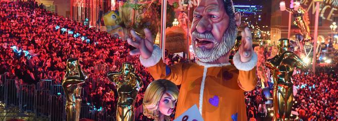#MeToo: Harvey Weinstein, héros d'un char au carnaval de Nice