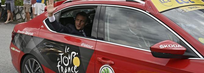 Tour de France: Macron sera présent sur la ligne d'arrivée à Pau