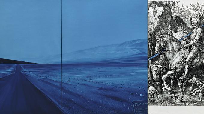 «Death Valley» (détail), 1974, par Jacques Monory exposé à la Fondation Leclerc de Landerneau jusqu'au 17 mai 2015.