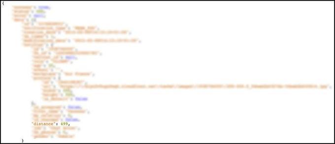 La distance avec un utilisateur de Happn, après correction de l'erreur de programmation.