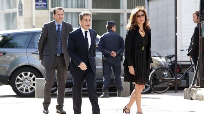 Nicolas Sarkozy, présent aux obsèques de Patrice Dominguez.