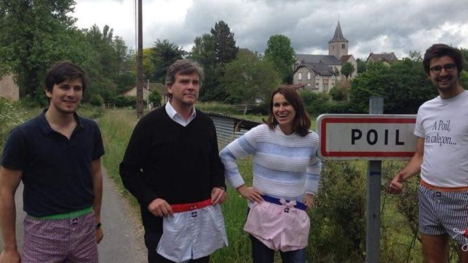 Arnaud Montebourg et Aurélie Filippetti, lundi, à Poil. Crédits photo: Au Poil.