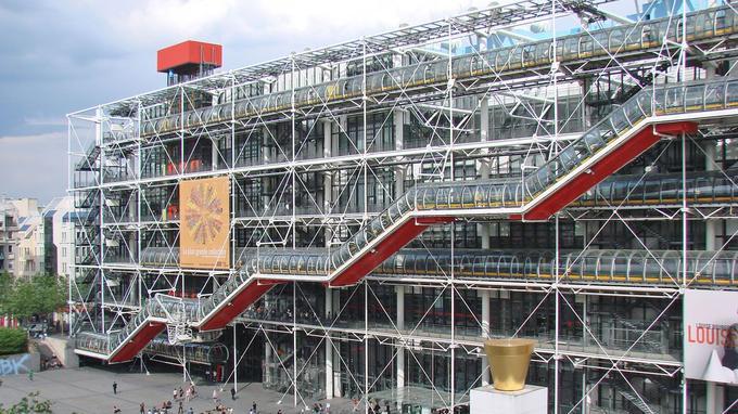 Le centre Pompidou reçoit plus de trois millions de visiteurs chaque année. (Crédit: Jean-Pierre Dalbéra/Flickr/CC)