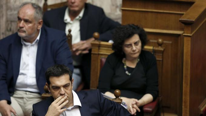 Alexis Tsipras, premier ministre grec a tenu une session parlementaire exceptionnelle pour annoncer la tenue d'un referendum portant sur les nouvelles demandes des créanciers.