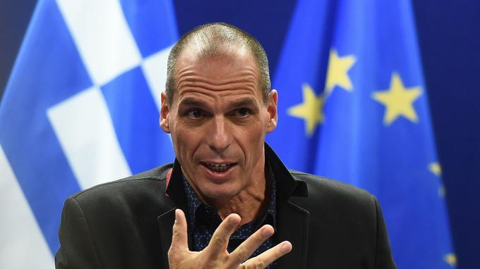 Yanis Varoufakis, lors d'une intervention à Bruxelles.