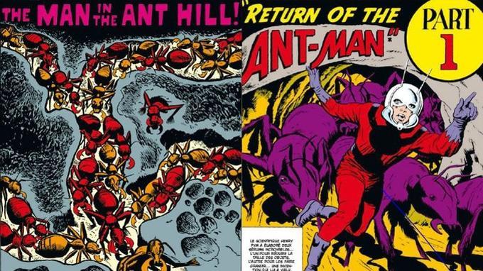 Les premières aventures d'Ant-Man, dessinées par Jack Kirby.