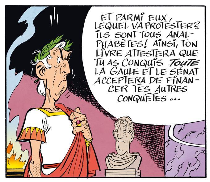 César digne, mais offusqué.