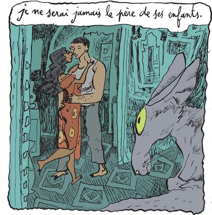 «Je ne serais jamais le père de ses enfants», une case de la nouvelle bande dessinée de Joann Sfar.
