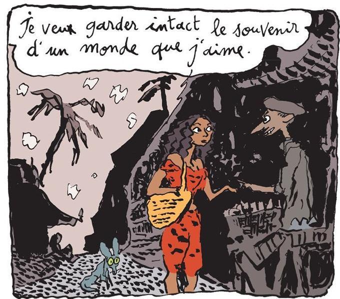 «Je veux garder intact le souvenir d'un monde que j'aime», une case de la nouvelle bande dessinée de Joann Sfar.