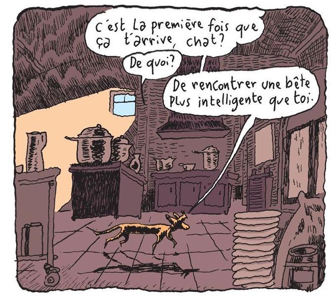 Grâce au rat, il découvre qu'il vivait dans un drame bourgeois. Il n'en avait pas conscience.