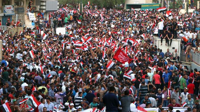 Manifestation à Bagdad, le 28 août.