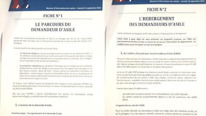 Extraits du fascicule distribué aux maires «solidaires» ce samedi 12 septembre à la maison de la Chimie à Paris.