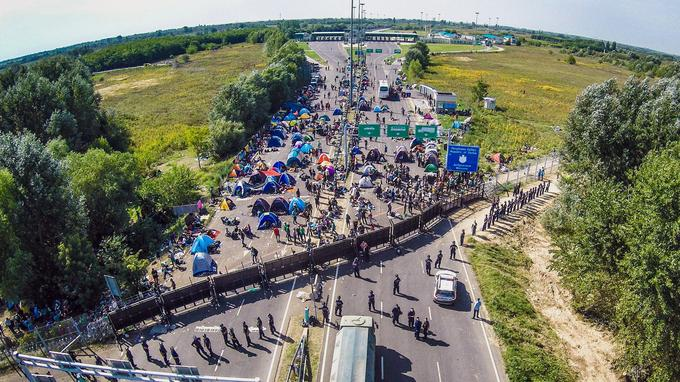 La frontière serbo-hongroise, hermétique depuis le 15 septembre.