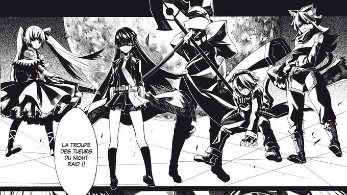 Le Night Raid, une troupe d'assassin rebelle. (c) Square Enix, Kurokawa