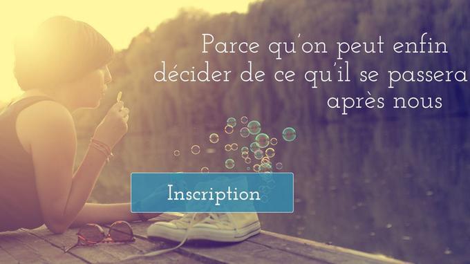 Le site Chapitre2.fr permet de communiquer à ses proches ses volontés pour son futur enterrement.