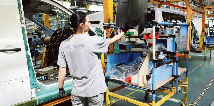 L'usine Peugeot de Sevel Nord. Le constructeur a obtenu le label Origine France Garantie pour certains de ses modèles.