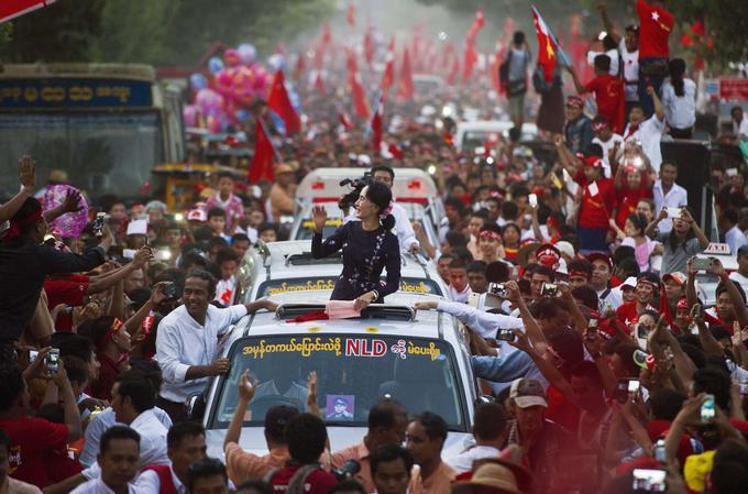 Aung San Suu Kyi, le 1er novembre.