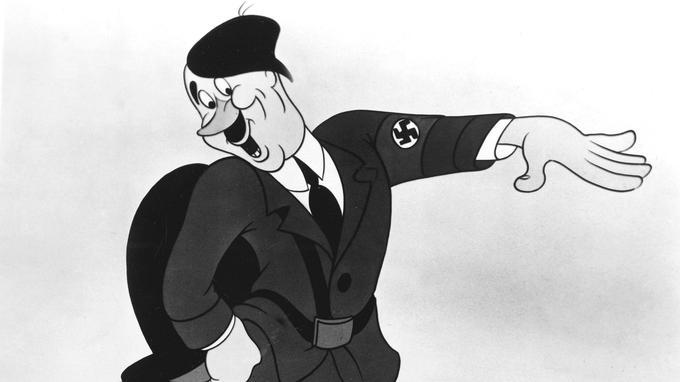 Adolf Hitler caricaturé par Walt Disney dans «Der Fuehrer's Face» en 1943