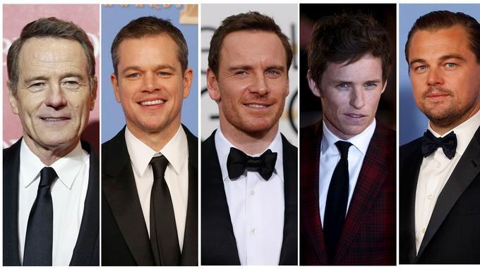 Bryan Cranston, Matt Damon, Michael Fassbender, Eddie Redmayne, et Leonardo DiCaprio.