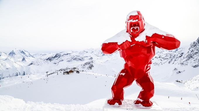 Le King Kong rouge <i> (Crédit photo: Courchevel tourisme)</i>