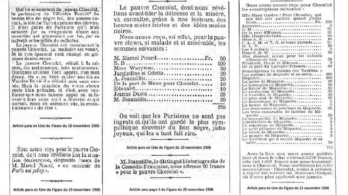 Extraits des articles parus dans Le Figaro du 18 au 21 novembre 1906.