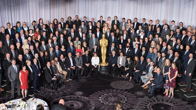 Photo de classe des nommés des Oscars 2016.