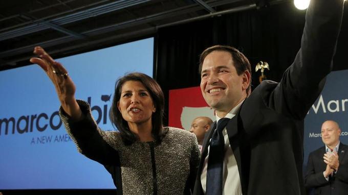 Marco Rubio a reçu le soutien du gouverneur de Caroline du sud Nikki Haley .