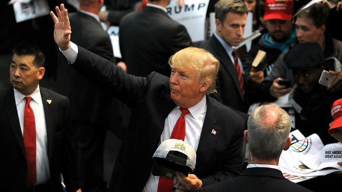 Donald Trump lors d'un discours devant ses supporters le 7 mars à Concord en Caroline du Nord.