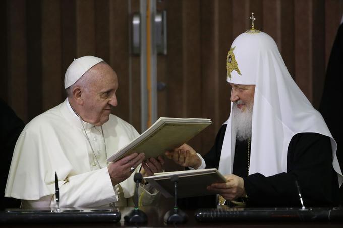 En plus de leur longue, conversation, le pape François et le patriarche Kirill ont signé une «déclaration commune».