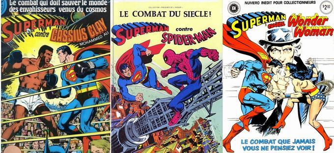 La grande mode dans les 70-80 était d'orchestrer des combats entre Superman et Cassius Clay, Spider-Man ou encore Wonder Woman.