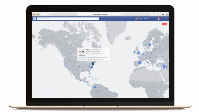 La carte de Facebook Live