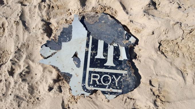 Morceau de l'engin retrouvé fin mars à Mossel Bay, en Afrique du Sud.