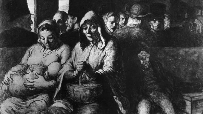 La «troisième classe» vue par Honoré Daumier vers 1862-1864.