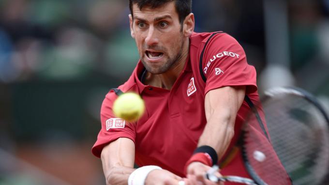 Novak Djokovic hier à Roland-Garros.