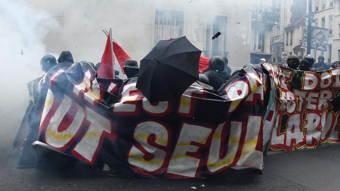 Samedi lors de la manifestation à Paris en hommage à Clément Méric.