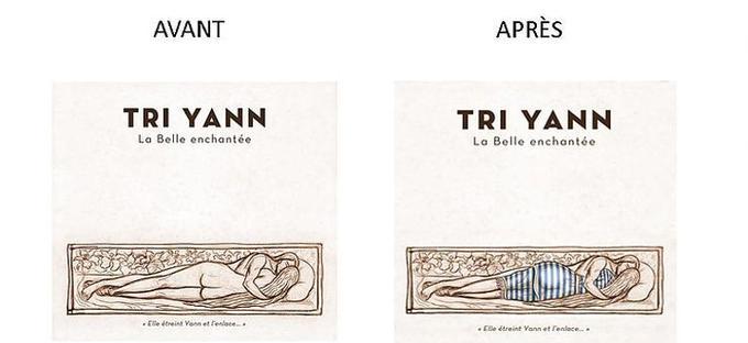 Le groupe a publié sur son site une comparaison entre l'ancienne et la nouvelle pochette de leur album «La Belle Enchantée».