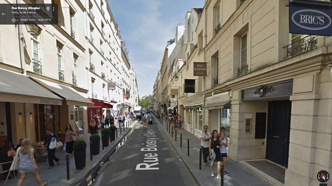 La rue Boissy d'Anglas dans le VIIIe arrondissement de Paris.
