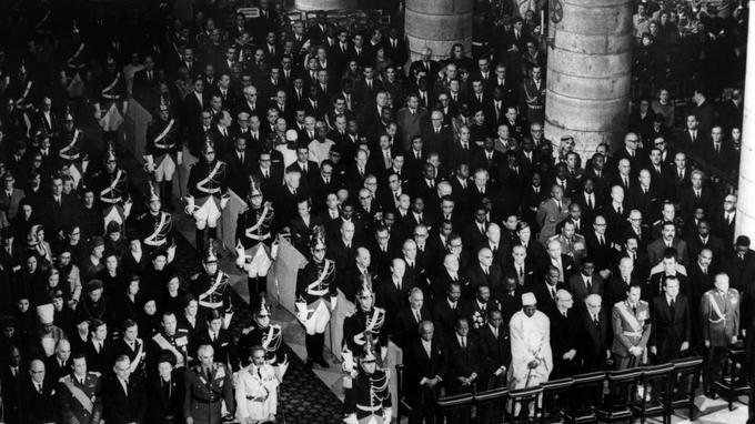 Messe d'hommage officiel à Charles de Gaulle, le 12 novembre 1970.