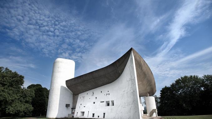 La chapelle Notre-Dame-du-Haut, à Ronchamp.