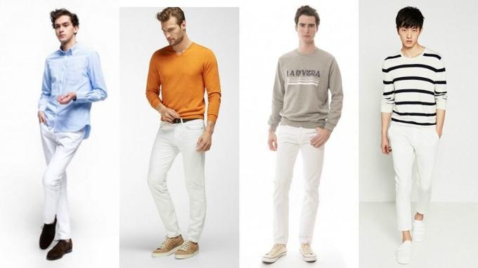 0e3f8182c7977 De gauche à droite: Pantalon 5 poches en toile de denim selvedge japonais, <